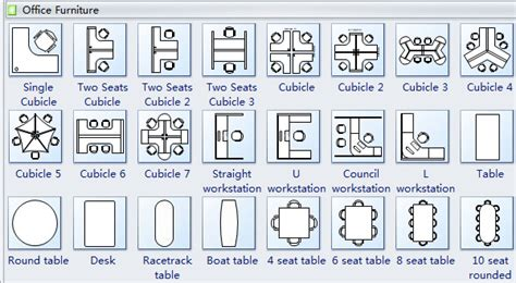 furniture clipart for floor plans office furniture layout clipart 31