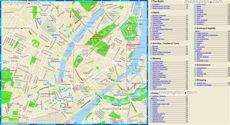 copenhagen map copenhagen tourist map images