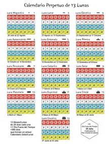 Calendario De 13 Meses Calendario Sincronario De 13 Lunas 28 D 237 As Por La Paz