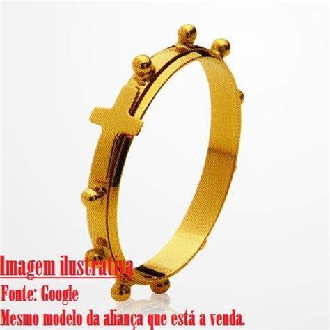 aparador aliança ouro anel alianca terco giratorio aco c brilhante k frete