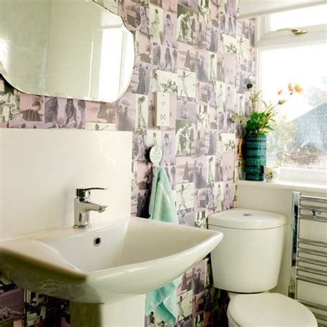 bathroom wallpapers uk bathroom vintage inspired home house tour
