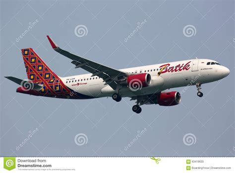 batik air on time performance batik air airbus a320 airplane editorial stock photo