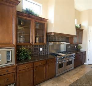 Kitchen Ideas With Brown Cabinets Pictures Of Kitchens Traditional Wood Kitchens Golden Brown