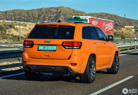 orange jeep grand cherokee jeep grand cherokee srt 8 2013 23 january 2016 autogespot