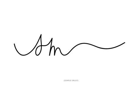 simple tattoo logo handwritten initials by simple sally www
