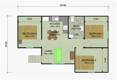 garage 60m2 bottlebrush flat plans 1 2 and 3 bedroom