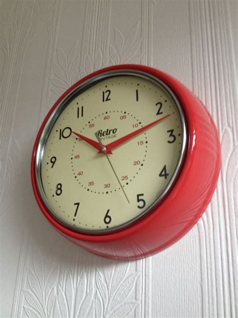 kitchen clocks retro vintage shabby round wall clock office kitchen clock