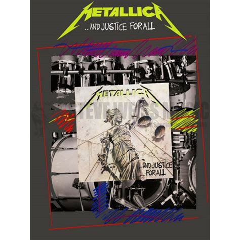 metallica xylophone metallica and justice for all drum set method books