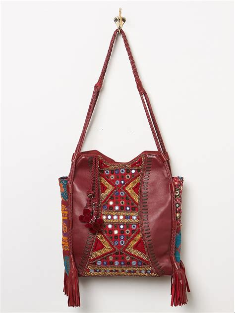 Be Inspired By Free Peoples Patchwork Laptop Bag by Lyst Free Womens Tapestry Tassel Tote In