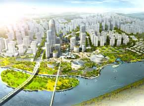hao s binhai eco city master plan provides case study for a completely green development