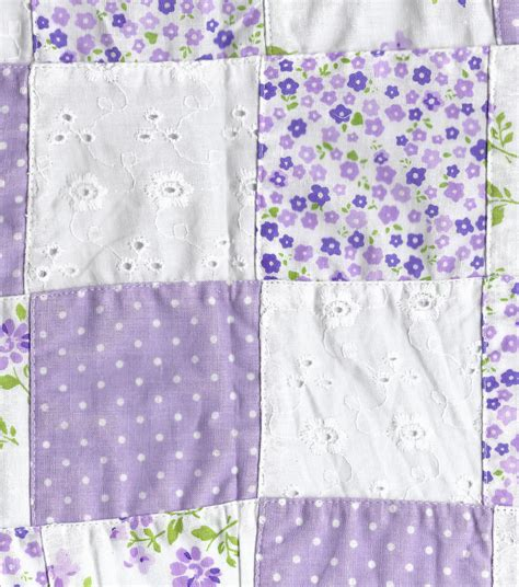 Purple Patchwork Fabric - fashion cotton fabric patchwork eyelet purple cotton at