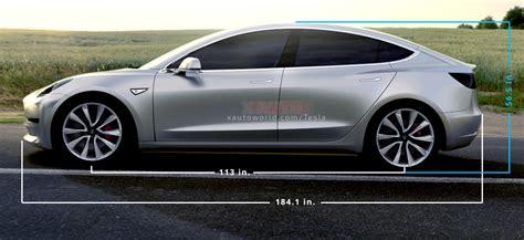 Tesla Length Tesla Model 3 Size