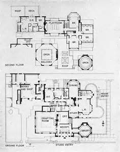 frank lloyd wright studio house plans home style free