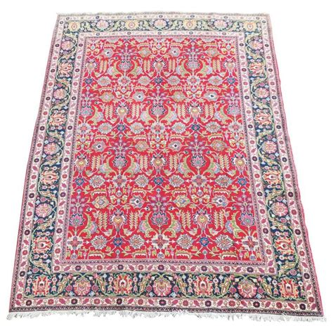 Persian Tabriz Rug Vibrant Colors Much Apple Green 1920s How Much Are Rugs