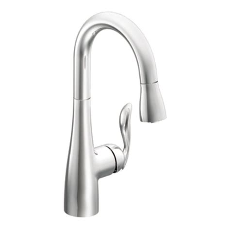 Moen Arbor Kitchen Faucet Moen 5995 Arbor One Handle High Arc Pulldown Single Mount Bar Faucet Chrome Touch On Kitchen