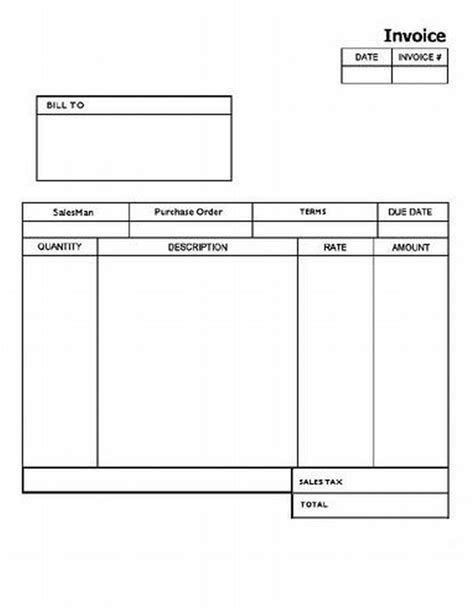 blank printable invoice template pin by gwen clark on computer tips