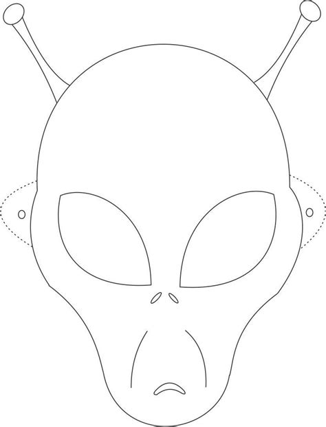 half mask printable template alien mask printable coloring page for kids kids crafts