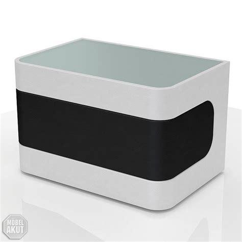 nachtkonsole glas nachtkonsole nighty in wei 223 und schwarz mit glas neu ebay