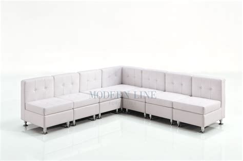 white leather modular sofa modern line furniture commercial furniture custom made