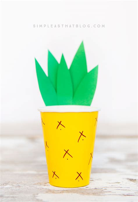 Paper Pineapple Craft - pineapple cup craft