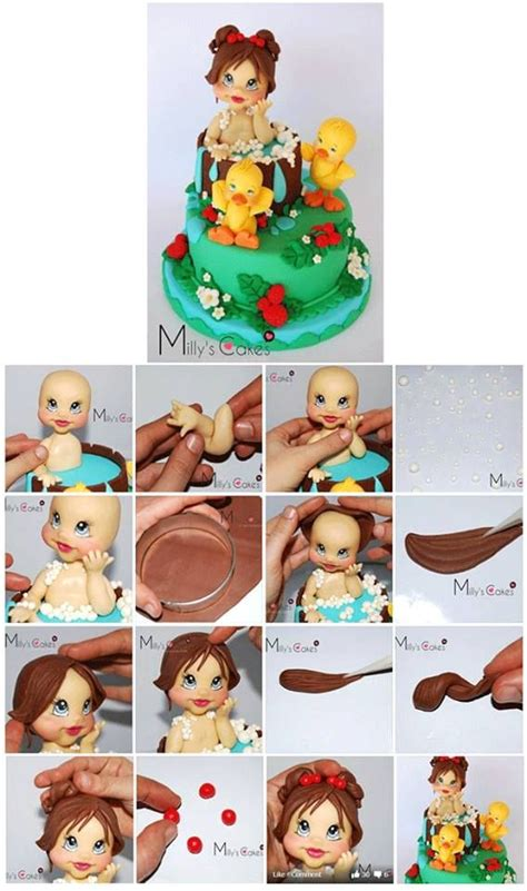 Baby Cetakan Silikonsilicone Mold Icing Clay Fondant 7 best fashionista doll cake images on doll cakes doll cake tutorial and pdf