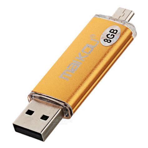 Usb Otg 8gb Maikou Micro Usb Otg Usb 2 0 Flash Drive Gold 8gb
