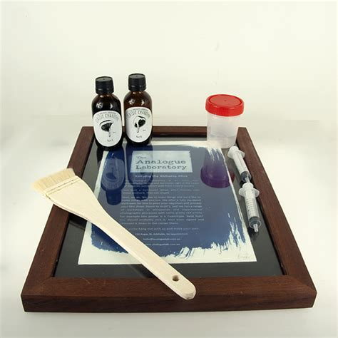 How To Make Cyanotype Paper - deluxe cyanotype kit with contact printing frame the