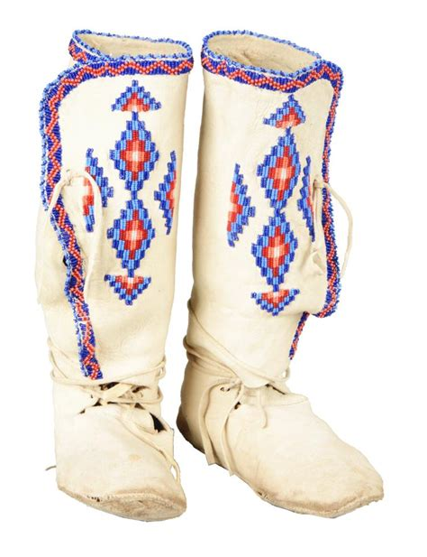 beaded moccasin tops high top apache beaded moccasins