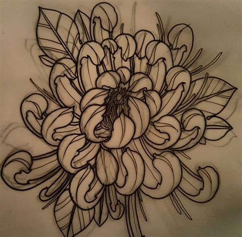 japanese chrysanthemum tattoo pin by anthony martin on tattoos