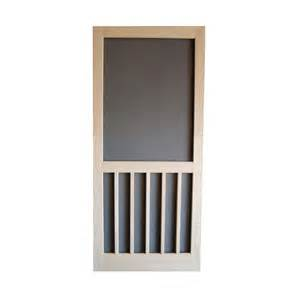 shop screen tight unfinished wood screen door common 30