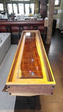 hand crafted shuffleboard table  allamerican woodworks custommadecom