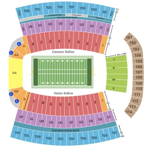 clemson seating chart valley clemson tigers tickets college football acc cu football