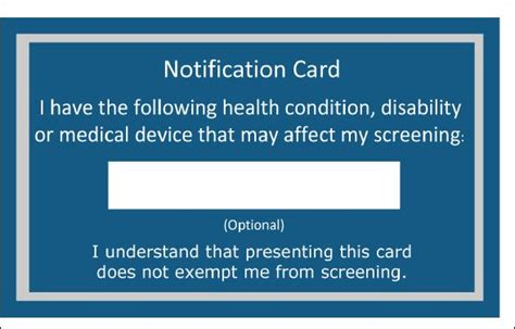 tsa offers medical notification cards stuck at the airport
