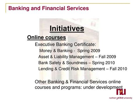Mba Banking And Finance Subjects by Ppt Northern State School Of Business Banking
