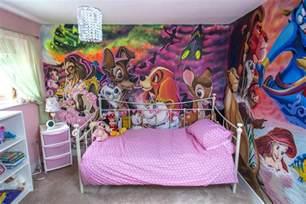 disney wallpaper for bedrooms paints disney bedroom to turn princess