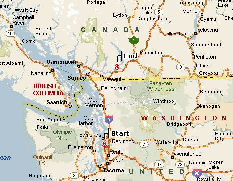 map of seattle washington to vancouver canada chilliwack map