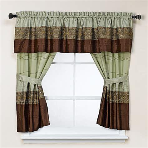 Green Bathroom Window Curtains Kas Romana Green Bath Window Curtains 100 Cotton Bed Bath Beyond