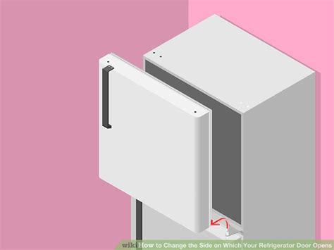 how to change refrigerator door swing how to change the side on which your refrigerator door opens