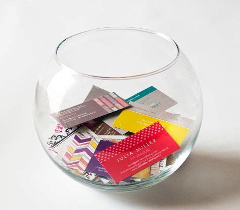 Small Business Gift Card Program - fish bowl for business cards fish bowl idea for referral program in small business