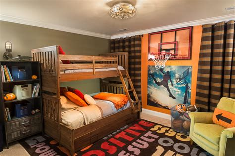 sports themed boys room a sports fan transitional kids boston by chatham