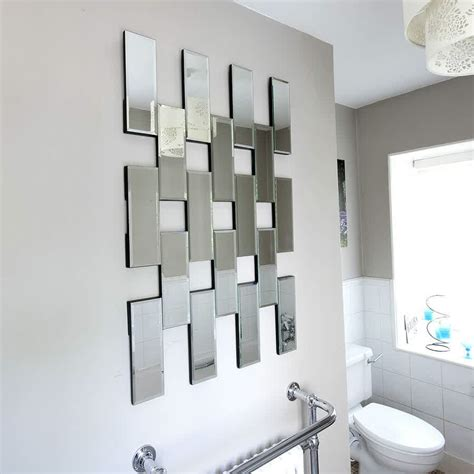 mirrored bathroom wall tiles decorative mirror tiles for homes homesfeed