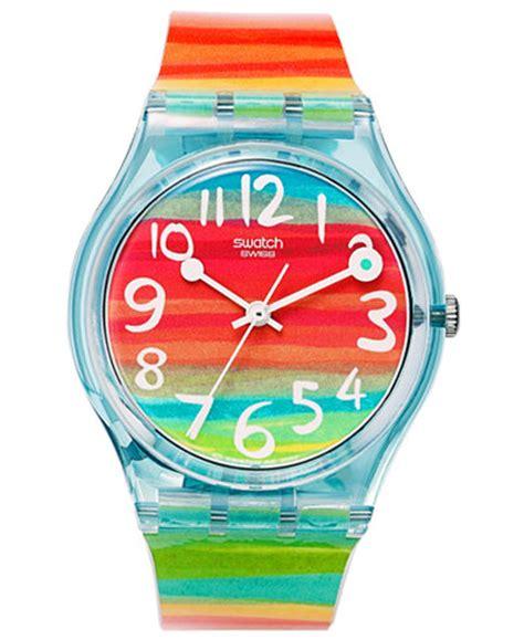 Swatch Rainbow swatch unisex swiss color the sky rainbow plastic