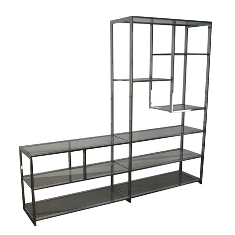 Etagere Modern by Mid Century Modern Chrome Glass 201 Tag 232 Re Chairish