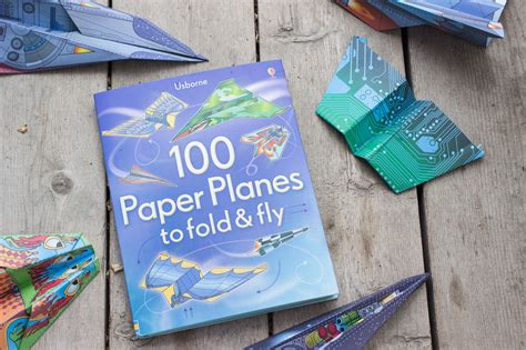 Fold And Fly Paper Planes Book - 100 paper planes to fold fly peek inside usborne