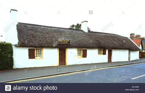 Burns Cottage by Robert Burns Cottage In Alloway Ayr Scotland Stock Photo