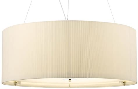 Dar Zaragoza Large Modern 6 Light Pendant 90cm Cream Drum Large Modern Pendant Light