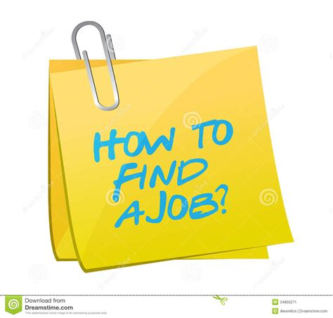 find  job post illustration design stock image