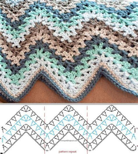 zig zag throw pattern punto stitch v stitch crochet ripple afghan pattern