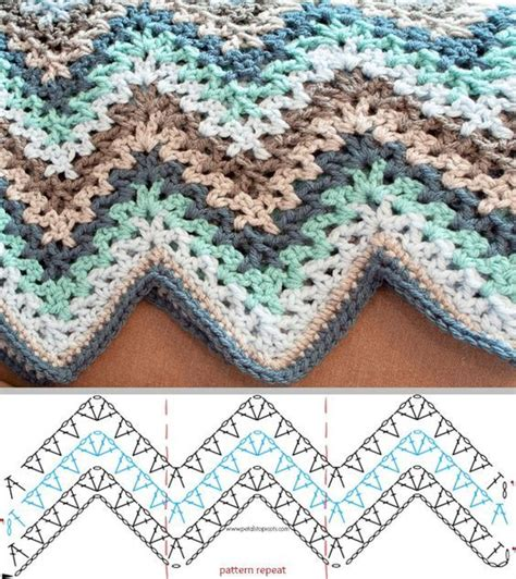 granny zig zag crochet pattern m 225 s de 25 ideas incre 237 bles sobre zig zag crochet en pinterest