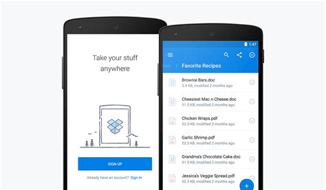 dropbox android dropbox for android 3 0 brings a material design makeover